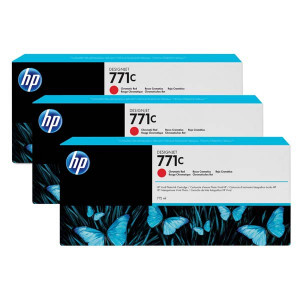 HP original ink B6Y32A, HP 771C, chromatic red, 3ks, HP Designjet Z6200, Z6600, Z6800