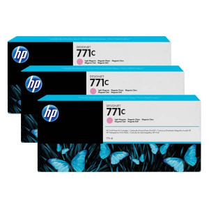 HP original ink B6Y35A, HP 771C, light magenta, 3ks, HP Designjet Z6200, Z6600, Z6800