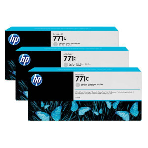 HP original ink B6Y38A, HP 771C, light gray, 3ks, HP Designjet Z6200, Z6600, Z6800