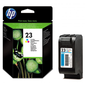 HP originál ink C1823D, HP 23, color, 640str., 30ml, HP DeskJet 710C, 890C, 895, 1120C, 1125C, OJ-psc500