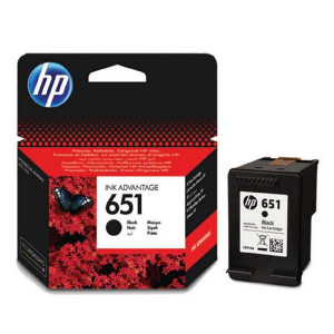 HP original ink C2P10AE, HP 651, black, 600str., HP DeskJet IA 5645, 5575, Officejet 202, 252 Mobile