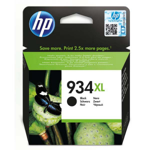 HP original ink C2P23AE, HP 934XL, black, 1000str., 25,5ml, HP Officejet 6812,6815,Officejet Pro 6230,6830,6835