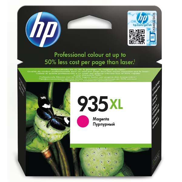HP original ink C2P25AE, HP 935XL, magenta, 825str., 9,5ml, HP Officejet 6812,6815,Officejet Pro 6230,6830,6835