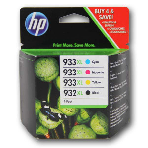 HP original ink C2P42AE, HP 932XL/HP 933XL, cyan/magenta/yellow/black, 825/1000str., 4ks, HP Officejet 6100, 6600, 6700, 7100