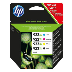 HP original ink C2P42AE, HP 932XL/HP 933XL, cyan/magenta/yellow/black, blister, 825/1000str., 4ks, HP Officejet 6100, 6600, 6700,