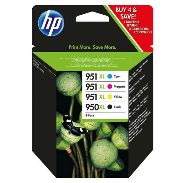 HP original ink C2P43AE, HP 950XL + HP 951XL, cyan/magenta/yellow/black, 1500/2300str., 4ks, HP Officejet 6100, 6600, 6700, 7100