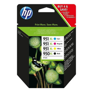 HP original ink C2P43AE, HP 950XL + HP 951XL, cyan/magenta/yellow/black, blister, 1500/2300str., 4ks, HP Officejet 6100, 6600, 670
