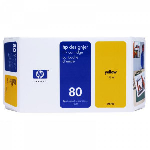 HP original ink C4848A, HP 80, yellow, 350ml, HP DesignJet 1050, C, 1055, C, CM