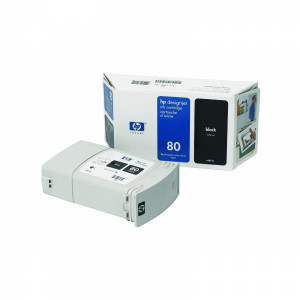 HP original ink C4871A, HP 80, black, 350ml, HP DesignJet 1050, C, 1055, C, CM