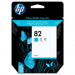 HP originál ink C4911A, HP 82, cyan, 69ml, HP DesignJet 500, PS, 800, 815, cc800ps, 4200