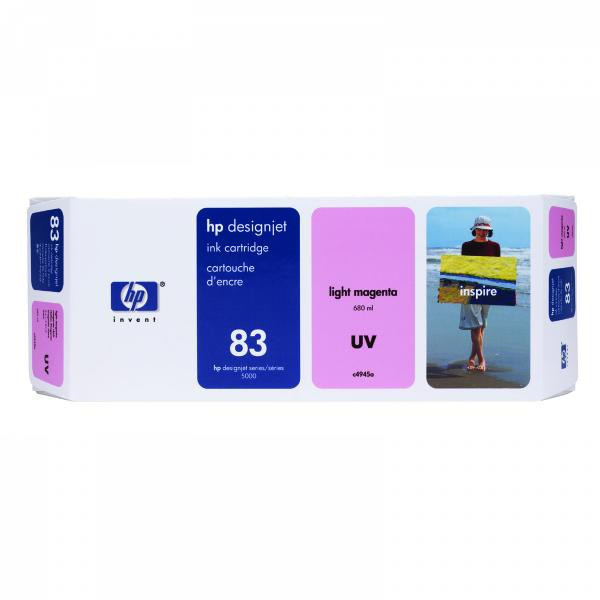 HP original ink C4945A, HP 83, light magenta, 680ml, HP DesignJet 5000, PS, UV, 5500, PS, UV