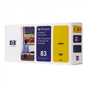 HP original tlačová hlava C4963A, HP 83, yellow, HP DesignJet 5000, PS, UV, 5500, PS