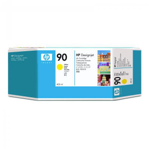 HP original ink C5065A, HP 90, yellow, 400ml, HP DesignJet 4000, 4000ps, 4500