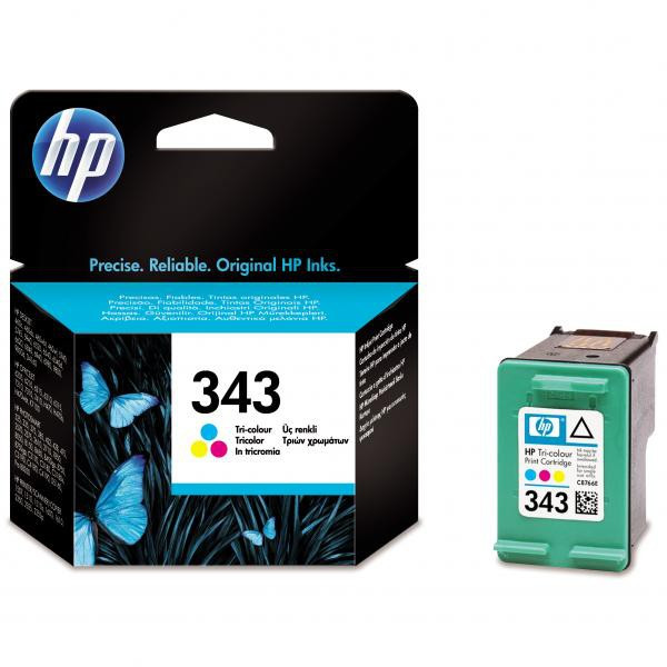 HP original ink C8766EE, HP 343, color, 260str., 7ml, HP Photosmart 325, 375, OJ-6210, DeskJet 5740,5740xi