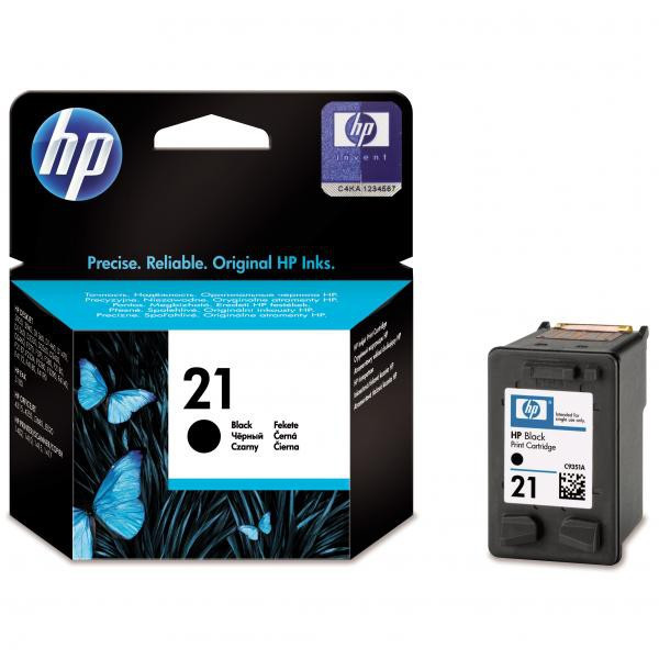 HP originál ink C9351AE, HP 21, black, blister, 150str., 5ml, HP PSC-1410, DeskJet F380, OJ-4300, Deskjet F2300