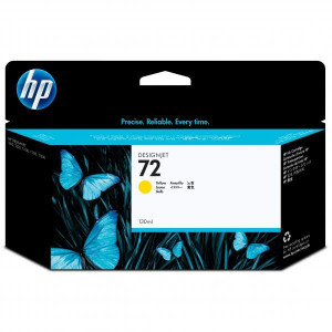 HP original ink C9373A, HP 72, yellow, 130ml, HP Designjet T1100, T770