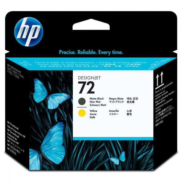 HP original tlačová hlava C9384A, HP 72, matte black/yellow, HP Designjet T1100, T770