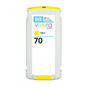HP original ink C9454A, HP 70, yellow, 130ml, HP Designjet Z3100, Z2100
