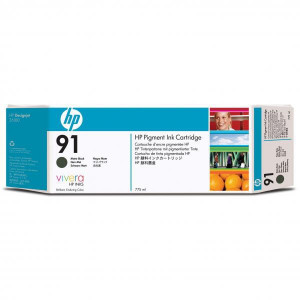 HP original ink C9464A, HP 91, matte black, 775ml, HP Designjet Z6100