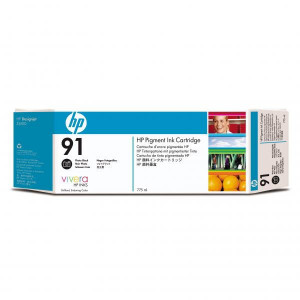 HP original ink C9465A, HP 91, photo black, 775ml, HP Designjet Z6100