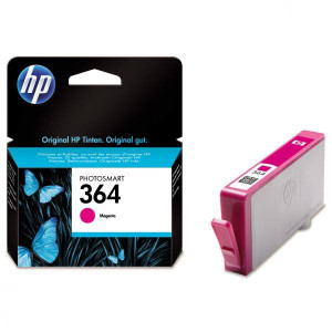 HP original ink CB319EE, HP 364, magenta, 300str., HP Photosmart B8550, C5380, D5460