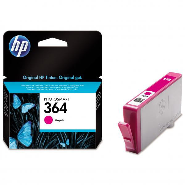 HP original ink CB319EE, HP 364, magenta, blister, 300str., HP Photosmart B8550, C5380, D5460