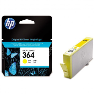 HP original ink CB320EE, HP 364, yellow, blister, 300str., HP Photosmart B8550, C5380, D5460
