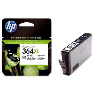 HP original ink CB322EE, HP 364XL, photo black, 290str., HP Photosmart B8550, C5380, D5460