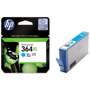 HP original ink CB323EE, HP 364XL, cyan, 750str., HP Photosmart B8550, C5380, D5460