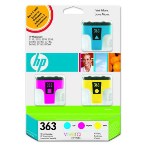 HP originál ink CB333EE, HP 363, cyan/magenta/yellow, 3ks, HP Designjet Z3100