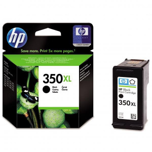 HP originál ink CB336EE, HP 350XL, black, 25ml, HP Officejet J5780, J5785