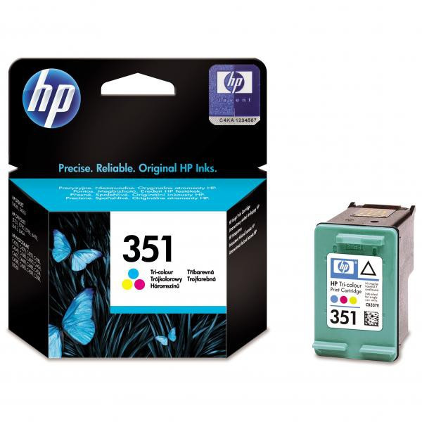 HP original ink CB337EE, HP 351, color, 3,5ml, HP Officejet J5780, J5785