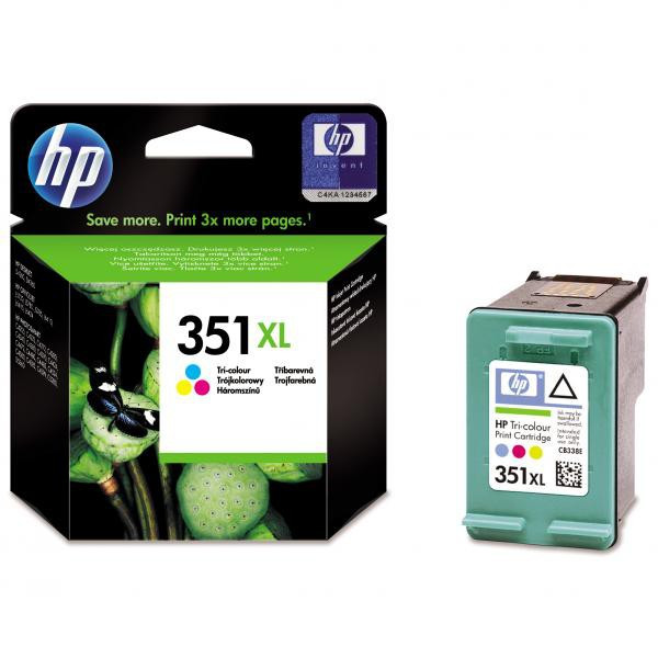 HP original ink CB338EE, HP 351XL, color, 14ml, HP Officejet J5780, J5785