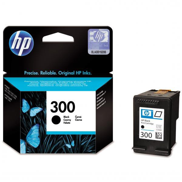 HP original ink CC640EE, HP 300, black, 200str., 4ml, HP DeskJet D2560, F4280, F4500