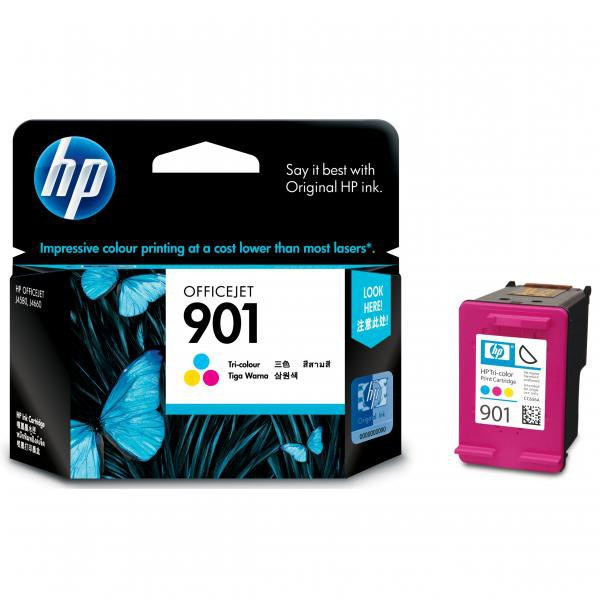 HP original ink CC656AE, HP 901, color, blister, 360str., 9ml, HP OfficeJet J4580
