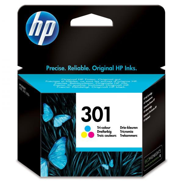 HP original ink CH562EE, HP 301, color, 165str., HP HP Deskjet 1000, 1050, 2050, 3000, 3050