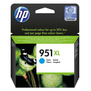 HP original ink CN046AE, HP 951XL, cyan, 1500str., 24ml, HP Officejet Pro 276dw, 8100 ePrinter,8620