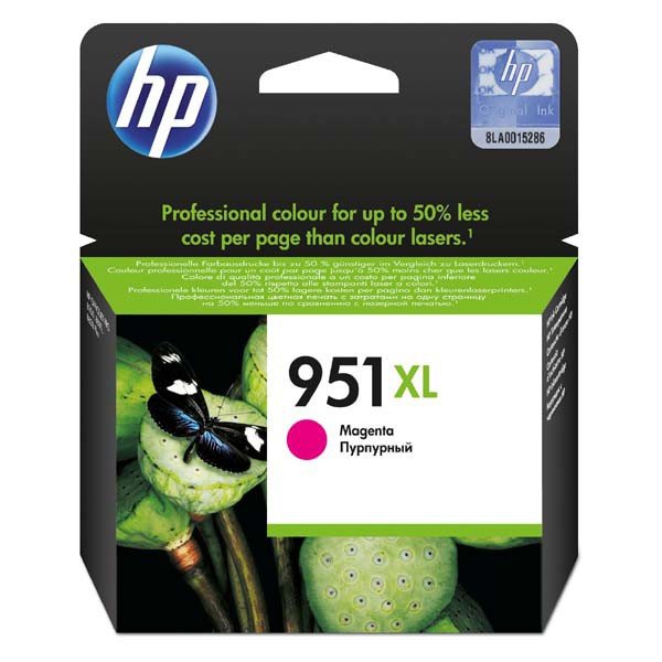 HP original ink CN047AE, HP 951XL, magenta, blister, 1500str., 17ml, HP Officejet Pro 8100 ePrinter,8620