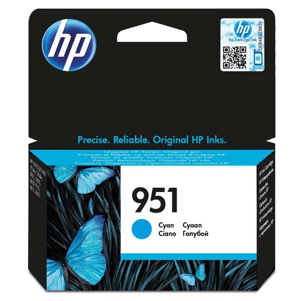 HP original ink CN050AE, HP 951, cyan, 700str., pre HP Officejet Pro 251, 276, 8100, 8600 N911a, 8610