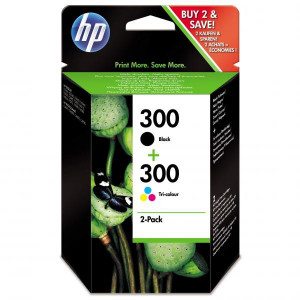 HP original ink CN637EE, HP 300, black/color, 2 x 200str., 2x4ml, HP HP Deskjet F4500