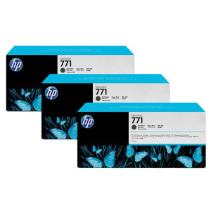 HP original ink CR250A, matte black, 3x775ml, HP 771, HP 3-Pack, Designjet Z6200