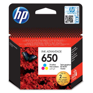 HP originál ink CZ102AE, HP 650, color, 200str., HP Deskjet Ink Advantage 2515 AiO, 3515 e-Ai0, 3545