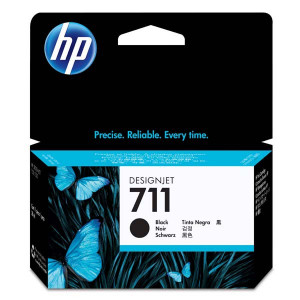 HP originál ink CZ129A, HP 711, black, 38ml, HP DesignJet T120, T520