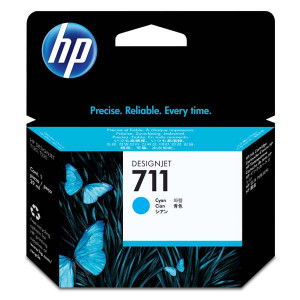 HP original ink CZ130A, HP 711, cyan, 29ml, HP DesignJet T120, T520