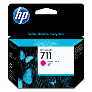 HP original ink CZ131A, HP 711, magenta, 29ml, HP DesignJet T120, T520