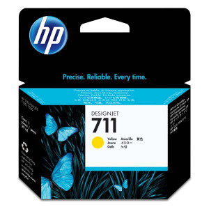 HP originál ink CZ132A, HP 711, yellow, 29ml, HP DesignJet T120, T520