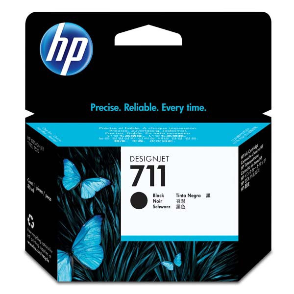 HP original ink CZ133A, HP 711, black, 80ml, HP DesignJet T120, T520