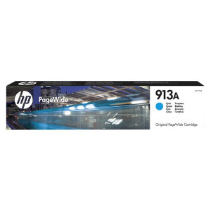 HP originál ink F6T77AE, HP 913A, cyan, 3000str., 37ml, high capacity, HP PageWide 325, 377, Pro 452, Pro 477