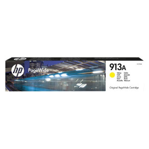 HP original ink F6T79AE, HP 913A, yellow, 3000str., 37.5ml, HP PageWide 325, 377, Pro 452, Pro 477