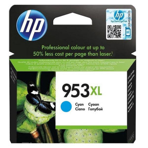 HP original ink F6U16AE, HP 953XL, cyan, 1600str., 20ml, high capacity, HP OfficeJet Pro 8218,8710,8720,8730,8740